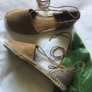 Shoes - Espadrilles lace up flats